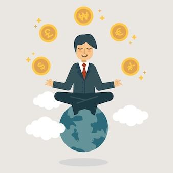 Ilustração de investidor profissional.