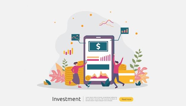 Ilustração de investimento empresarial