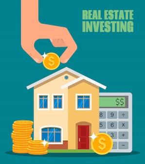 Ilustração de investimento imobiliário