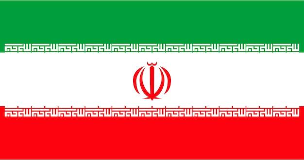 Ilustração, de, irã, bandeira