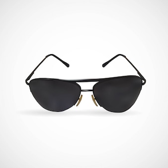 Ilustração, de, isolado, óculos de sol