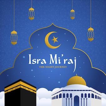 Ilustração de isra miraj desenhada à mão
