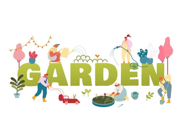 Ilustração de jardim