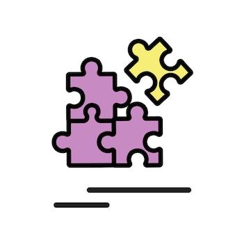 Ilustração, de, jigsaw, ícone
