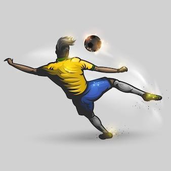 Ilustração de jogador de futebol