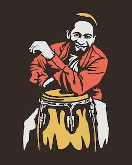 Ilustração de jogador de percussão