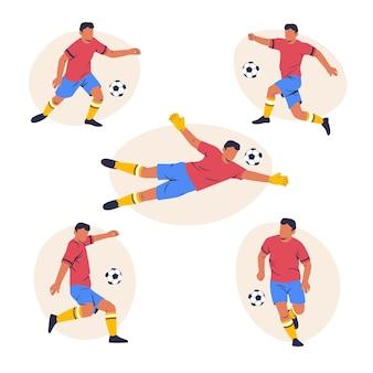Ilustração de jogadores de futebol