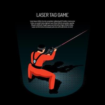 Ilustração de jogo de marca de laser