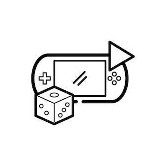 Ilustração, de, jogo, entretenimento