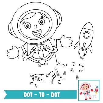 Ilustração de jogo ponto a ponto para educação de crianças
