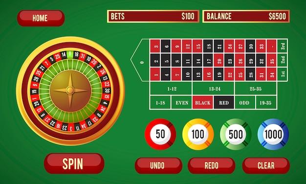 Ilustração de jogos de azar on-line