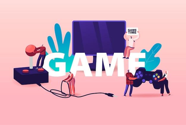 Ilustração de jogos de computador