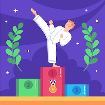 Ilustração de jogos olímpicos planos de 2021