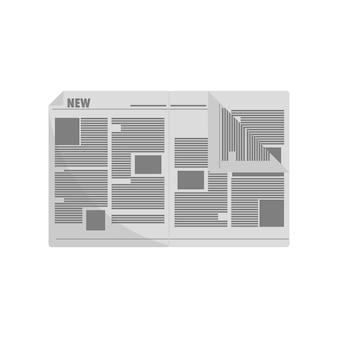 Ilustração, de, jornal
