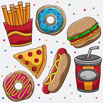 Ilustração de junk food
