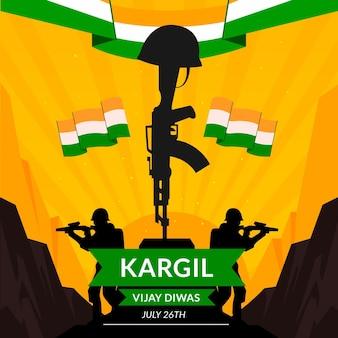 Ilustração de kargil vijay diwas