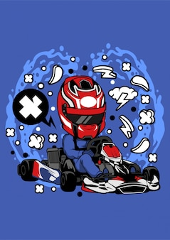 Ilustração de karting