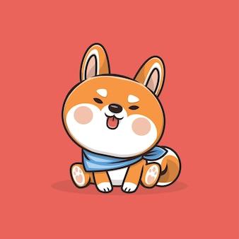 Ilustração de kawaii cute dog