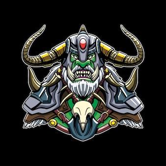 Ilustração de king of orc warriors com raiva