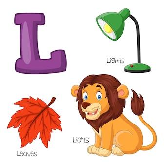 Ilustração, de, l, alfabeto