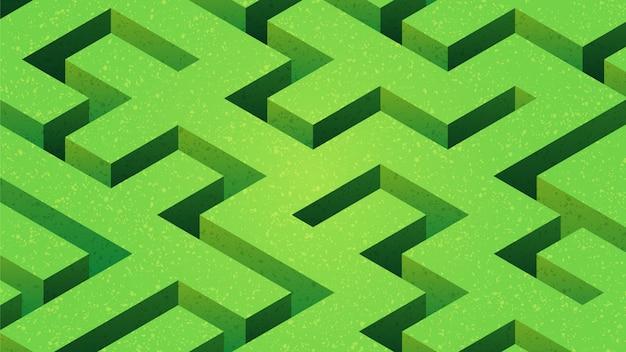 Ilustração de labirinto de grama