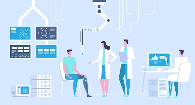 Ilustração de laboratório de ciências