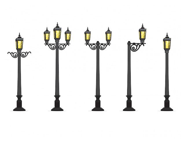 Ilustração de lâmpada de rua de jardim