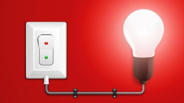 Ilustração de lâmpada ligada