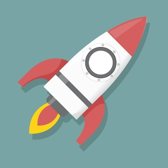 Ilustração de lançamento de foguete gráfico de ícone