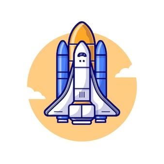 Ilustração de lançamento do ônibus espacial