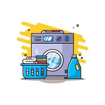 Ilustração de lavanderia