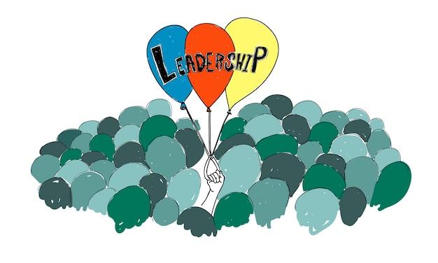 Ilustração, de, leadertship
