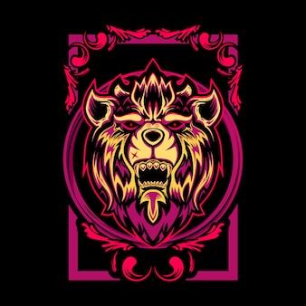 Ilustração de leão místico