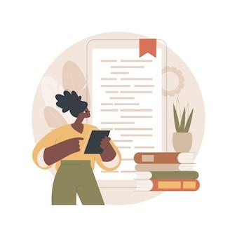 Ilustração de leitura digital