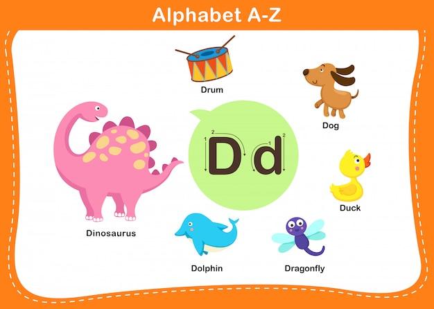 Ilustração de letra d do alfabeto