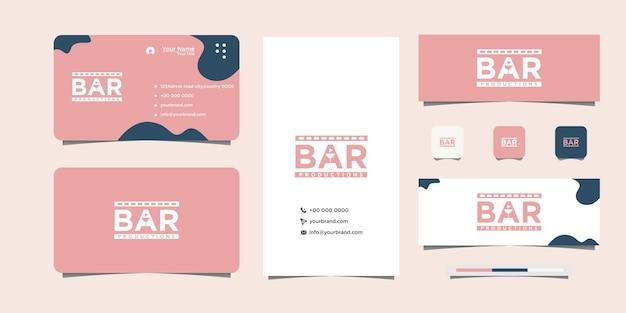 Ilustração de letras de barra e cartão de visita