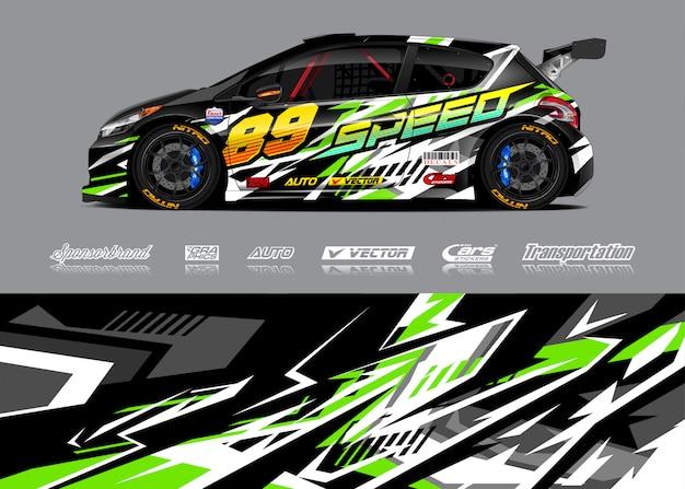 Ilustração de libré de carro de corrida