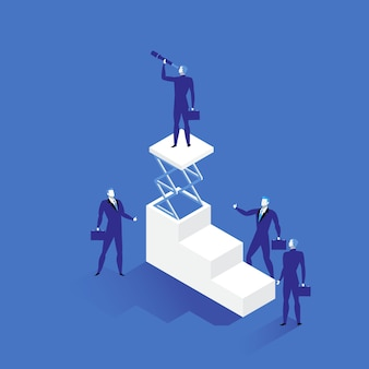 Ilustração de liderança em estilo simples
