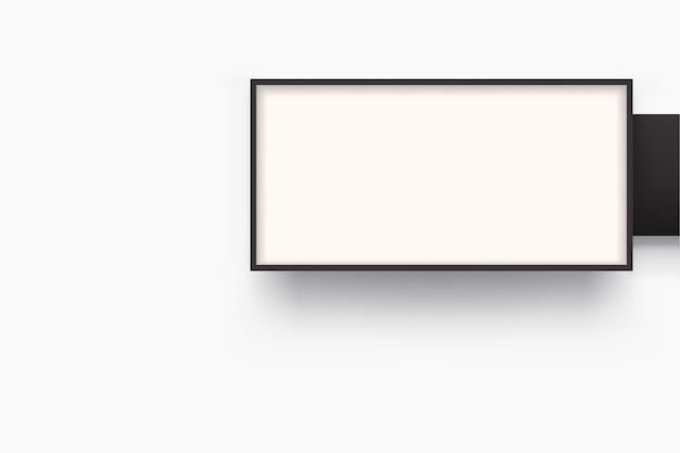 Ilustração de lightbox de formato retangular