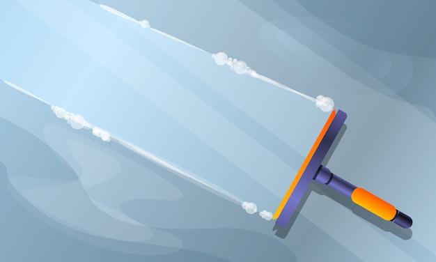 Ilustração de limpeza de janela, estilo cartoon