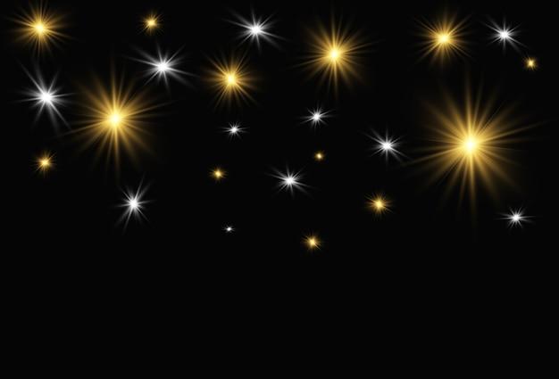 Ilustração de lindas estrelas brilhantes