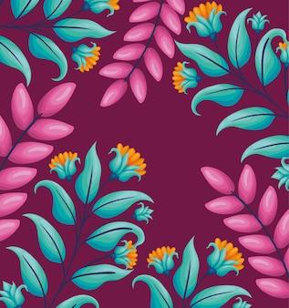 Ilustração de lindas flores