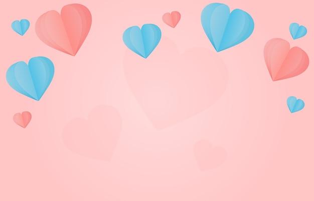 Ilustração de lindos confetes de corações Vetor Premium