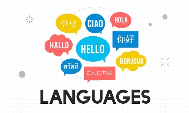 Ilustração, de, língua, conceito
