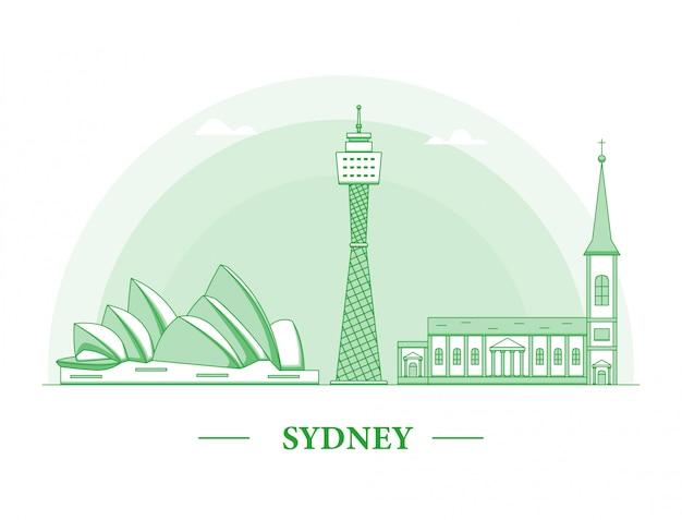 Ilustração de linha da cidade de sydney