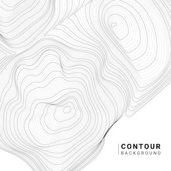 Ilustração de linha de contorno abstrata monocromática
