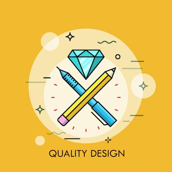 Ilustração de linha fina de design de qualidade