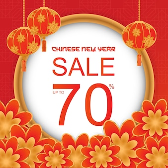 Ilustração de liquidação de ano novo chinês