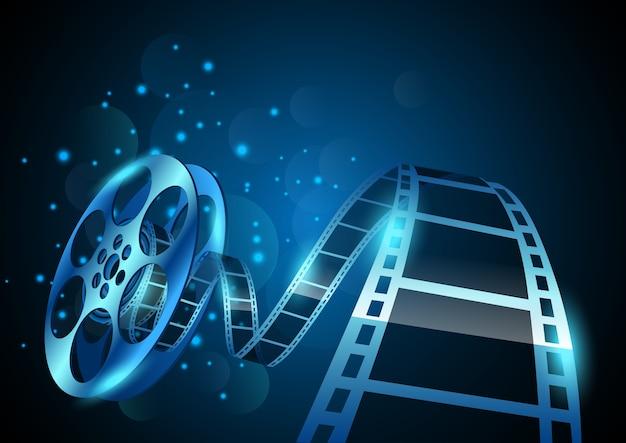Ilustração de listra de bobina de filme em abstrato
