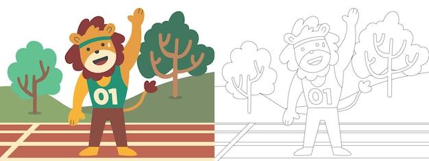 Ilustração de livro de colorir para crianças